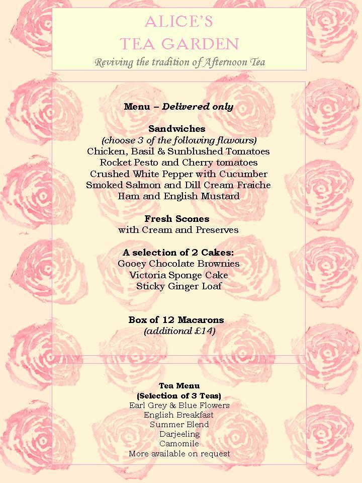 Alice S Afternoon Tea Parties Alice 39 S Tea Garden